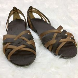 CROCs 2 tone strappy jelly Sandals